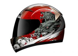helmet red wolf