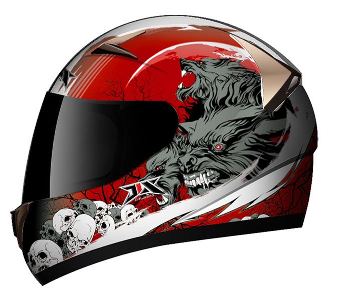 helmet red wolf