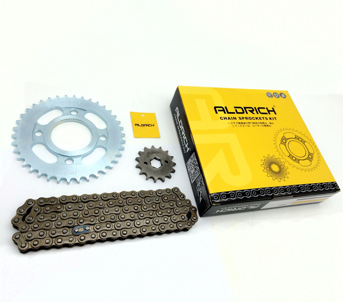 chain sprockets kit cg125 38t 15t