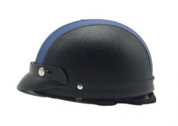 helmet harley leather blue