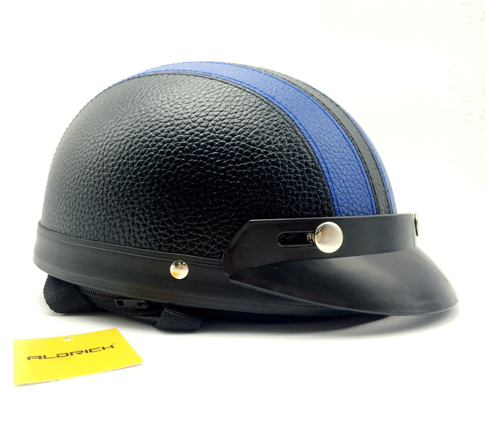 helmet harley leather blue