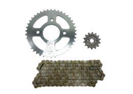 chain sprocket kit bm150 428h 128l 14t 42t